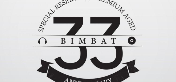 bimbat anniversary logo design