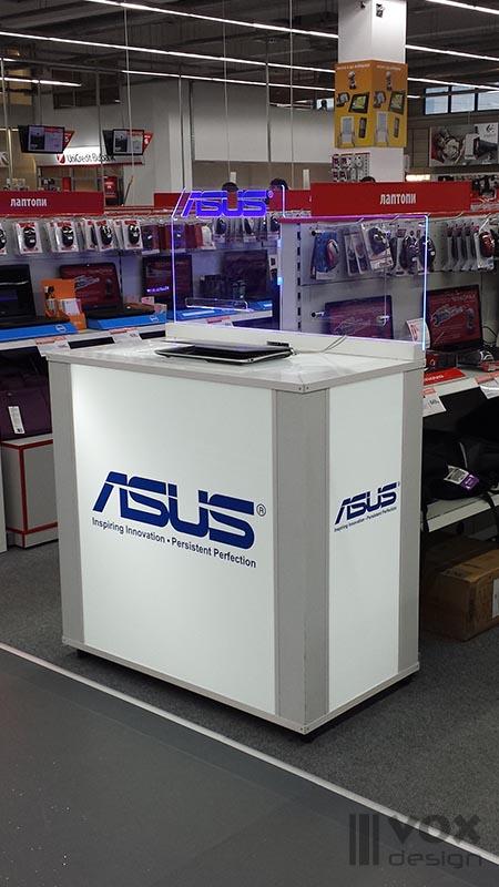 Asus proektirane, proizvodstvo i montaj na prezentatzionni kutii