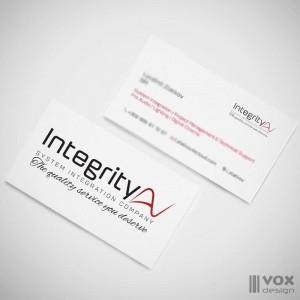 integrity logo design vizitki