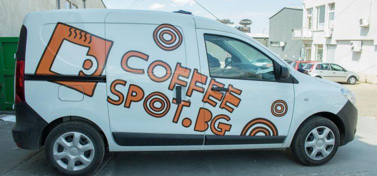 Брандиране на автомобил Coffee Spot