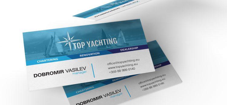 """Дизайн и печат на визитки """"Top Yachting"""""""
