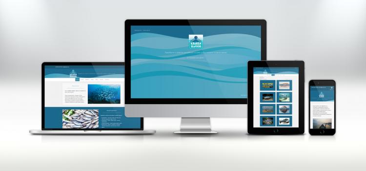 Изработка на WordPress уебсайт за Kraken Seafood - визуализация устройства