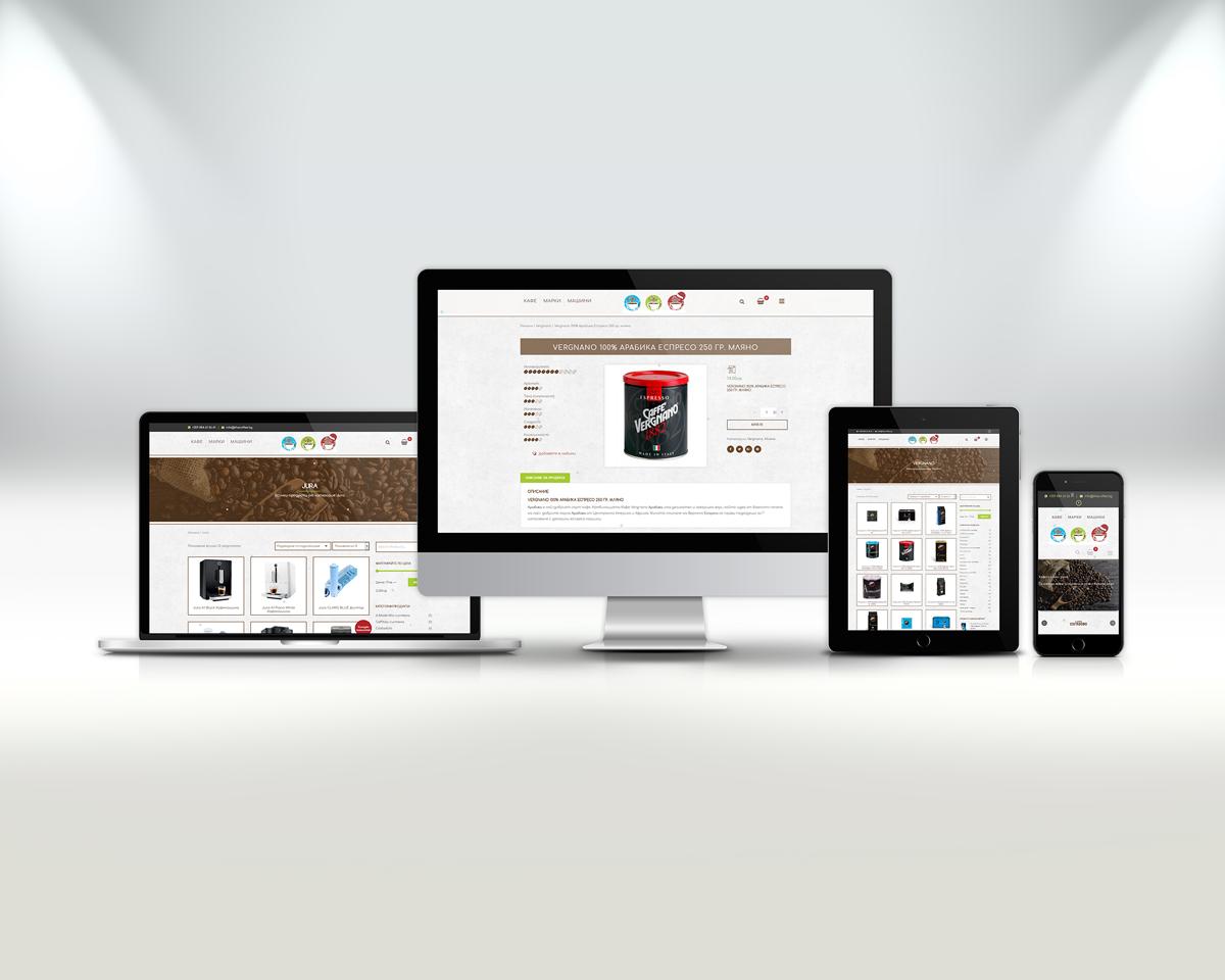 Изработка на онлайн магазин The Coffee