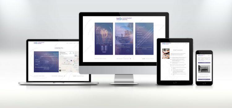 Дизайн и изработка на уебсайт за Мениджмънт Дизайн